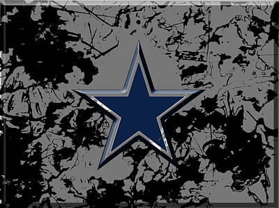 Fort Worth Mixed Media - Dallas Cowboys B1 by Brian Reaves