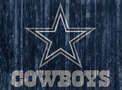 Mixed Media - Dallas Cowboys Barn Door by Dan Sproul