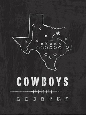 Football Digital Art - Dallas Cowboys Art - Nfl Football Wall Print by Damon Gray