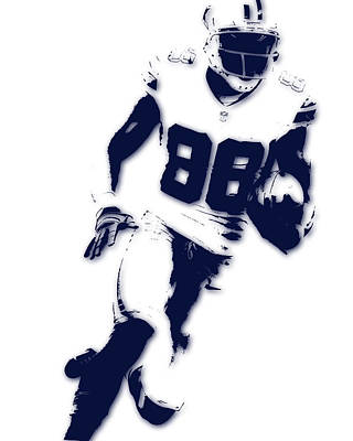 Dallas Cowboys Dez Bryant Art Print by Joe Hamilton