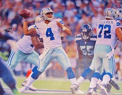 Romo Photograph - Dallas Cowboys Quarterback #4 Dak Prescott by Donna Wilson