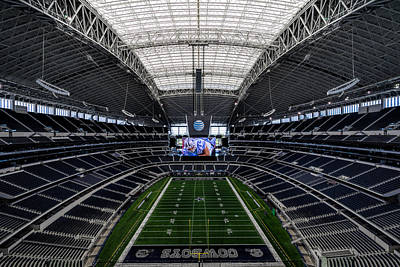 Dallas Cowboys Stadium End Zone Art Print by Jonathan Davison