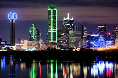 Dallas Cowboys Star Skyline Art Print