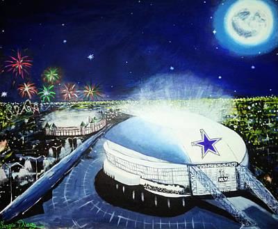 Sergio Romo Painting - Dallas Cowboys Stedium by Sergio Diaz