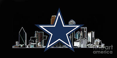Digital Art - Dallas Cowboys by Steven Parker