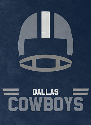 University Wall Art - Mixed Media - Dallas Cowboys Vintage Art by Joe Hamilton