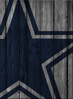 Dallas Cowboys Photograph - Dallas Cowboys Wood Fence by Joe Hamilton