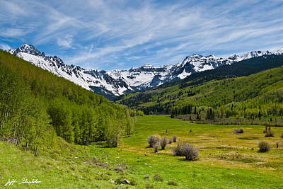 Photograph - Dallas Creek Valley And The Sneffels Range by Jeff Goulden