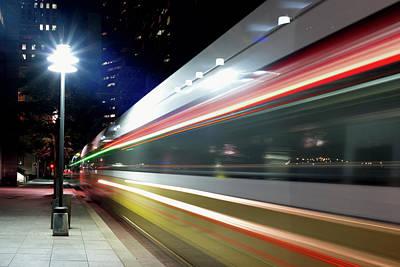 Photograph - Dallas Dart Train 012518 by Rospotte Photography