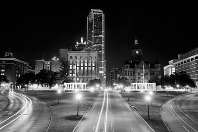 Dallas Skyline Photograph - Dallas Dealey Plaza 11317 by Rospotte Photography