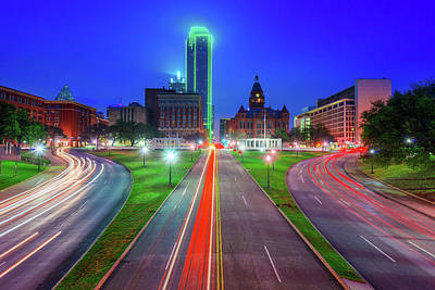 Photograph - Dallas Dealey Plaza Skyline - Texas by Gregory Ballos