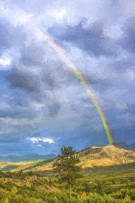 Mountain Digital Art - Dallas Divide Rainbow II by Jon Glaser