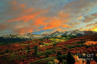 Photograph - Dallas Divide Sunset - 2 by Benedict Heekwan Yang