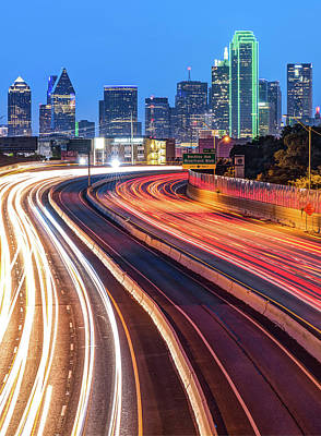 Photograph - Dallas Downtown City Skyline - Color by Gregory Ballos