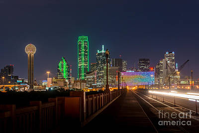 Downtown Photograph - Dallas Downtown Night by Tod and Cynthia Grubbs