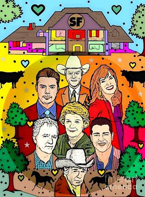 Digital Art - Dallas Family Popart By Nico Bielow by Nico Bielow