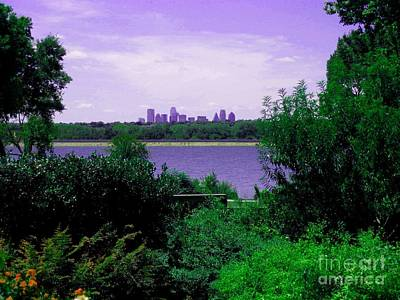 Art Print featuring the photograph Dallas From The Park by Robert D McBain