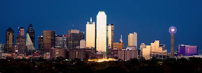 Dallas Golden Pano Art Print