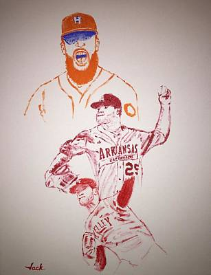Houston Astros Painting - Dallas Keuchel by Jack Bunds