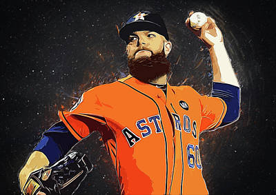 Baseball Digital Art - Dallas Keuchel by Semih Yurdabak