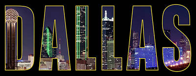 Photograph - Dallas Letter Skyline 013018 by Rospotte Photography