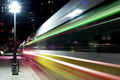 Photograph - Dallas Light Rail 012518 by Rospotte Photography