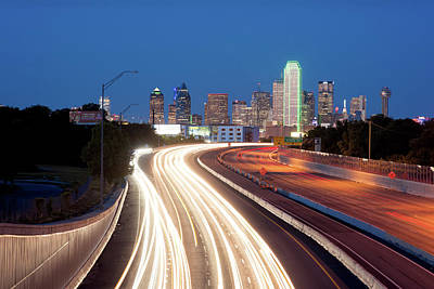 Photograph - Dallas Light Trails 101217 by Rospotte Photography