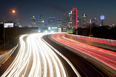 Photograph - Dallas Light Trails 122117 by Rospotte Photography