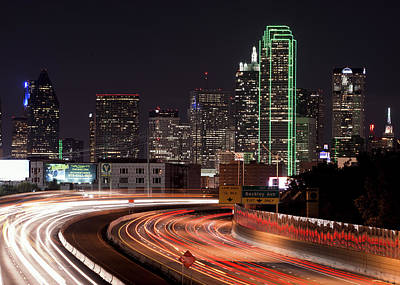 Photograph - Dallas Light Trails 3617 by Rospotte Photography