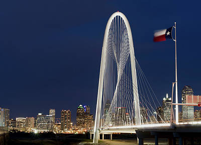 Photograph - Dallas Margaret Hunt Bridge 3417 by Rospotte Photography
