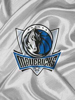 Dunk Digital Art - Dallas Mavericks by Afterdarkness
