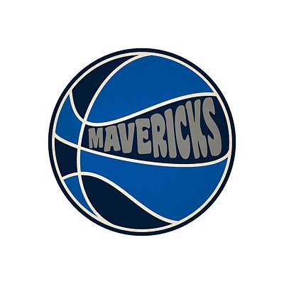 Dallas Mavericks Retro Shirt Art Print by Joe Hamilton