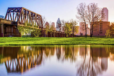 Photograph - Dallas Morning Skyline Reflections by Gregory Ballos