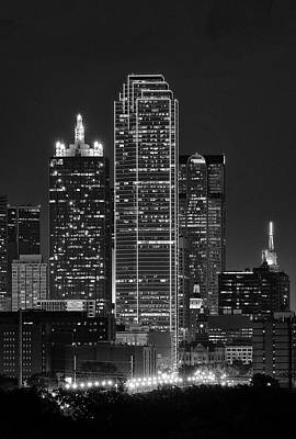 Photograph - Dallas Night 021817 by Rospotte Photography