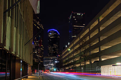 Photograph - Dallas Night Driving by Jennifer White