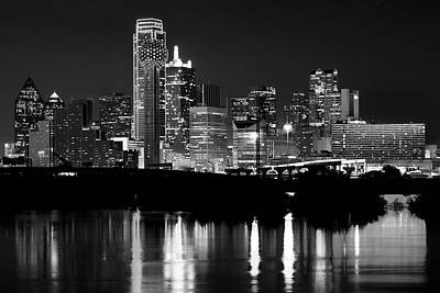 Photograph - Dallas Nights Bw 6816 by Rospotte Photography