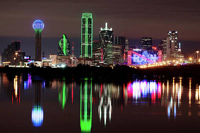 Photograph - Dallas No More Rain Skyline V3 by Rospotte Photography