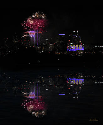 Photograph - Dallas On The Trinity Nye Fireworks by Robert J Sadler