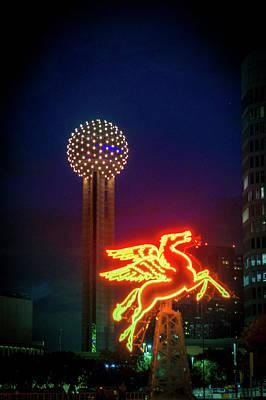 Dallas Pegasus Art Print by Art Spectrum