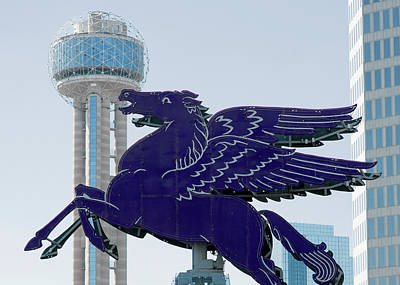 Photograph - Dallas Pegasus Blue Reunion Tower 030318 by Rospotte Photography