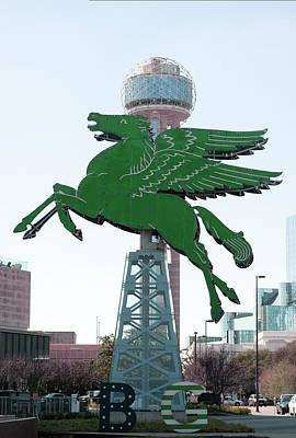Photograph - Dallas Pegasus Green Reunion Tower Dallas by Rospotte Photography