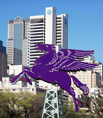 Photograph - Dallas Pegasus Purple 032418 by Rospotte Photography