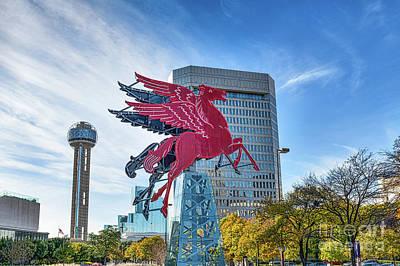 Dallas Digital Art - Dallas Pegasus by Tod and Cynthia Grubbs