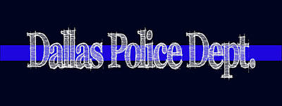 Dallas Police Dept. Blue Line Mug Art Print by Robert J Sadler