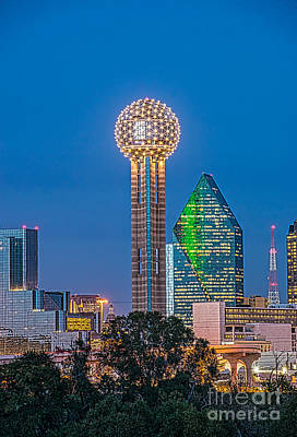 Dallas Reunion Tower Twilight Art Print
