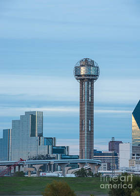 Cities Photograph - Dallas Reunion Tower View Dusk by Tod and Cynthia Grubbs