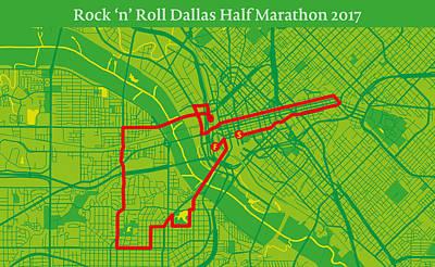 Modern Poster Photograph - Dallas Rr Half Marathon #2 by Big City Artwork