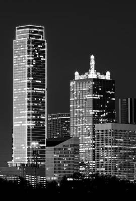 Photograph - Dallas Shapes Monochrome by Rospotte Photography