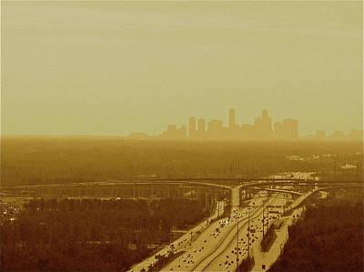 Dallas Sky Art Print by Katie Ransbottom