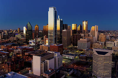 Photograph - Dallas Skyline 110116 by Rospotte Photography